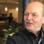 Porträtt av Lennart Hynynen, Hammarös kommunpolis.