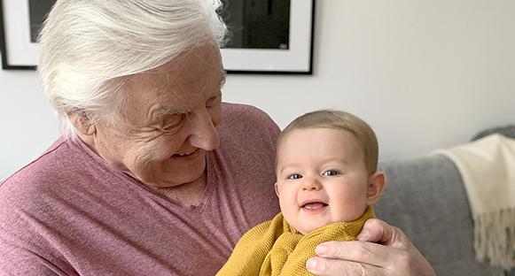 Kenneth och barnbarnet