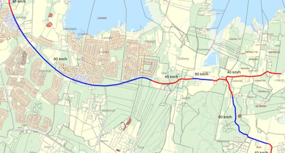 Karta, nya trafikhastigheter