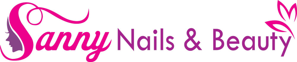 Sanny Nails & Beauty Logotype I rosa och Lila