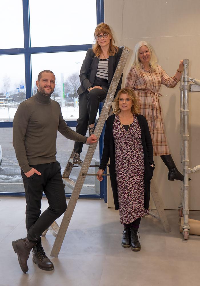 De fyra initiativtagarna till Hammarö Art Gallery.
