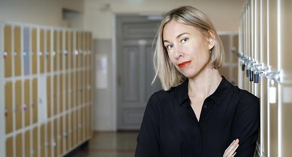 Författarinnan Karin Wik.