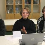 Frode Kihlsten, Maja-Lisa Tedeholm och Felix Muntean var de som fick representera sin klass i tävlingen Teknikåttan.